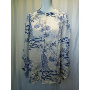 Free People Boho Button Down Floral Tunic Top S